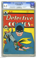 Golden Age (1938-1955):Superhero, Detective Comics #42 (DC, 1940) CGC FN+ 6.5 Cream to off-white pages. Batman gets to show his detective skills in this issue...