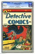 Golden Age (1938-1955):Superhero, Detective Comics #45 (DC, 1940) CGC VF+ 8.5 Off-white to white pages. Nothing livens up a Detective issue quite like a J...