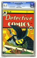 Golden Age (1938-1955):Superhero, Detective Comics #54 (DC, 1941) CGC VF+ 8.5 Off-white pages. Batman and Robin go after some modern-day pirates in this issue...