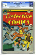 Golden Age (1938-1955):Superhero, Detective Comics #60 (DC, 1942) CGC FN/VF 7.0 White pages. The original Air Wave made his first appearance in this issue; th...