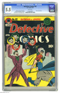 Golden Age (1938-1955):Superhero, Detective Comics #62 (DC, 1942) CGC FN- 5.5 White pages. The Joker's second cover appearance (in any title) makes this an is...