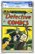 Golden Age (1938-1955):Superhero, Detective Comics #80 (DC, 1943) CGC VF- 7.5 White pages. It's the third appearance of classic villain Two-Face, and in fact ...