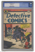Golden Age (1938-1955):Superhero, Detective Comics #91 Double Cover (DC, 1944) CGC FN/VF 7.0 Cream to off-white pages. The Joker liked to go on crime sprees t...