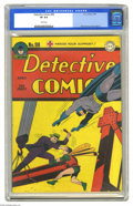 Golden Age (1938-1955):Superhero, Detective Comics #98 (DC, 1945) CGC VF 8.0 White pages. The Boy Wonder's in a fix, and only Batman can prevent murder on the...