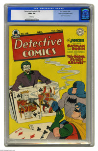 Detective Comics #118 Mile High pedigree (DC, 1946) CGC NM+ 9.6 White pages. It's Joker time once again, and the Mile Hi...