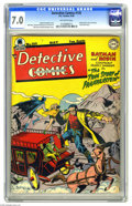 Golden Age (1938-1955):Superhero, Detective Comics #135 (DC, 1948) CGC FN/VF 7.0 Off-white pages. Bruce Wayne and Dick Grayson look up their old acquaintance ...