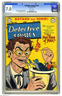 Detective Comics #143 (DC, 1949) CGC FN/VF 7.0 White pages. Jim Mooney cover. Mooney, Curt Swan, and Howard Sherman art...
