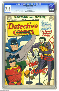 Detective Comics #149 (DC, 1949) CGC VF- 7.5 Off-white pages. That Fearsome Fakir, the Joker, is back again, and this ti...