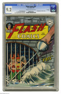 """Golden Age (1938-1955):Superhero, Flash Comics #87 """"D"""" Copy pedigree (DC, 1947) CGC NM- 9.2 Cream to off-white pages. Black Canary made her second appearance ..."""