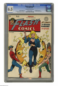 Flash Comics #92 (DC, 1948) CGC FN+ 6.5 Off-white to white pages. This issue is Black Canary's first cover appearance an...