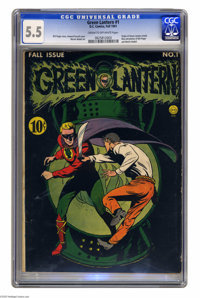 Green Lantern #1 (DC, 1941) CGC FN- 5.5 Cream to off-white pages. The first issue of Green Lantern's solo title is ranke...