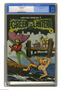 Golden Age (1938-1955):Superhero, Green Lantern #9 San Francisco pedigree (DC, 1943) CGC NM 9.4 White pages. Sheldon Moldoff's cover scene shows us different ...
