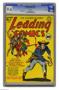 Golden Age (1938-1955):Superhero, Leading Comics #5 San Francisco pedigree (DC, 1942) CGC NM+ 9.6 White pages. The Seven Soldiers of Victory were the supergro...