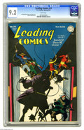 Golden Age (1938-1955):Superhero, Leading Comics #14 (DC, 1945) CGC NM- 9.2 White pages. With ace writer Grant Morrison having revived the Seven Soldiers of V...