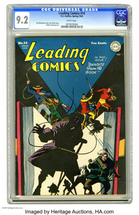 Leading Comics #14 (DC, 1945) CGC NM- 9.2 White pages. With ace writer Grant Morrison having revived the Seven Soldiers of V...