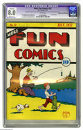 "Platinum Age (1897-1937):Miscellaneous, More Fun Comics #22 Mile High pedigree (DC, 1937) CGC VF 8.0 Moderate (P) White pages. This issue is a Gerber ""8,"" and this ..."