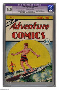 """New Adventure Comics #18 (DC, 1937) CGC Apparent FN 6.0 Extensive (A) Slightly brittle pages. A Gerber """"8."""" Cr..."""