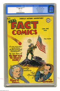 Real Fact Comics #6 Mile High pedigree (DC, 1947) CGC NM 9.4 White pages. Believe it or not, this collection of (mostly)...