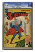 Golden Age (1938-1955):Superhero, Superman #4 (DC, 1940) CGC FN/VF 7.0 Cream to off-white pages. Superman's number one foe, Lex Luthor, made his second and th...