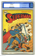Golden Age (1938-1955):Superhero, Superman #5 (DC, 1940) CGC VF+ 8.5 Off-white to white pages. Superman was still getting his kicks showing off on the covers ...