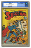 Golden Age (1938-1955):Superhero, Superman #5 (DC, 1940) CGC VF- 7.5 Cream to off-white pages. This issue has the fourth appearance of Lex Luthor, in fact it'...
