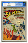 Golden Age (1938-1955):Superhero, Superman #76 (DC, 1952) CGC VF/NM 9.0 Off-white pages. In this key issue, Batman and Superman learn each other's secret iden...