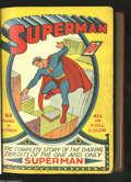 Golden Age (1938-1955):Superhero, Superman #1-7 Plus Early Action Comics Bound Volume (DC, 1939). This bound volume not only includes Superman #1, 2, 3, 4...