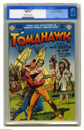 Golden Age (1938-1955):Western, Tomahawk #5 Mile High pedigree (DC, 1951) CGC NM 9.4 Off-white towhite pages. We almost didn't recognize Tomahawk without h...