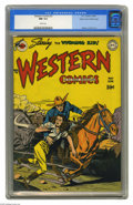 Golden Age (1938-1955):Western, Western Comics #3 Mile High pedigree (DC, 1948) CGC NM 9.4 Whitepages. That's the Wyoming Kid riding to the rescue on Howar...