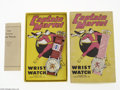 Memorabilia:Miscellaneous, Captain Marvel Watch with Box & Price Tag (Marvel Importing, 1948). In the 1940s, two crazes were sweeping America: superher...