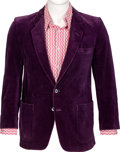 Music Memorabilia:Costumes, Keith Moon Personal Sport Coat And Shirt (Circa 1970s). ...