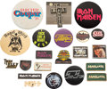 Music Memorabilia:Memorabilia, Beatles/Rolling Stones/David Bowie/Queen Huge Collection Of Vintage Pin Badges (Circa 1970s-1980s)....