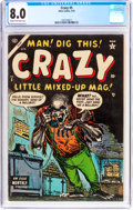 Golden Age (1938-1955):Humor, Crazy #5 (Atlas, 1954) CGC VF 8.0 Cream to off-white pages....
