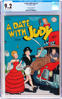 A Date With Judy #4 Mile High Pedigree (DC, 1948) CGC NM- 9.2 Off-white to white pages