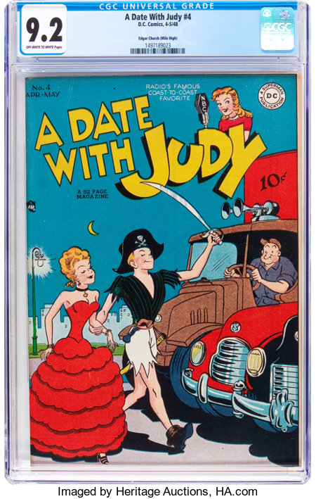 A Date With Judy #4 Mile High Pedigree (DC, 1948) CGC NM- 9.2 Off-white to white pages....