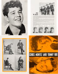 Music Memorabilia:Memorabilia, Beatles, Chris Montez, and Tommy Roe Tour Programs (Two, 1963)....