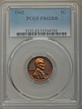 Proof Sets, Five-Piece 1942 Proof Set PR62 to PR65 PCGS. This set includes: Cent PR62 Red and Brown; Nickel, Type One PR65; Dime PR63;... (Total: 5 coins)