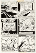 Carmine Infantino and Steve Mitchell Brave and the Bold #172 Story Page 9 Origin Comic Art