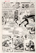 Jim Starlin and Al Milgrom Marvel Fanfare #21 Story Page 4 Original Art  (Marvel Comic Art