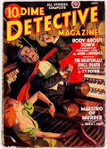 Pulps:Detective, Dime Detective Magazine - April 1938 (Popular) Condition: GD/VG....
