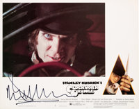 Malcolm McDowell Signed Complete Set of Lobby Cards from A Clockwork Orange (Warner Bros., 1