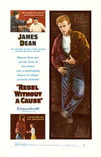 "Rebel without a Cause (Warner Brothers, 1955). One Sheet (27"" X 41"")"