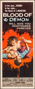 "Movie Posters:Horror, Blood of the Vampire (Universal International, 1958). Insert (14"" X36""). Horror.. ..."