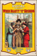 """Movie Posters:Comedy, When Beauty Came to Kobskob (Mutual, 1915). One Sheet (28.25"""" X 41.75""""). Comedy.. ..."""
