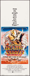 """Movie Posters:Comedy, Blazing Saddles (Warner Brothers, 1974). Insert (14"""" X 36"""") JohnAlvin Artwork. Comedy.. ..."""