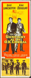 """Movie Posters:Western, Gunfight at the O.K. Corral (Paramount, 1957). Insert (14"""" X 36"""").Western.. ..."""