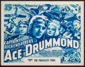 "Movie Posters:Serial, Ace Drummond (Universal, 1936). Title Lobby Card (11"" X 14"")Chapter 7 -- ""The Trackless Trail."" Serial.. ..."