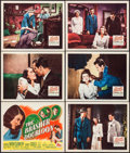 """Movie Posters:Crime, The Brasher Doubloon (20th Century Fox, 1946). Title Lobby Card& Lobby Cards (5) (11"""" X 14""""). Crime.. ... (Total: 6 Items)"""