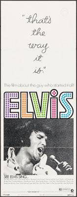"That's the Way It Is (MGM, 1971). Folded, Very Fine-. Insert (14"" X 36""). Elvis Presley"