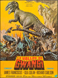 "Movie Posters:Science Fiction, The Valley of Gwangi (Warner Brothers-Seven Arts, 1969). FrenchMoyenne (22.5"" X 30"") Jean Mascii Artwork. Science Fiction...."